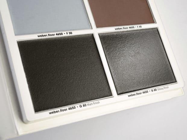 Echantillons sol design réalisés dans nos ateliers avec finition mat ou brillant par bouche-pore