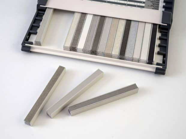 Fertigung der zementären Fugenmuster oder Epoxi-Fugenmuster in unserer Musterabteilung
