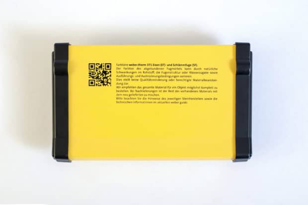 Personalización del estuche para muestras de juntas a través de serigrafía o impresión digital y pegatina