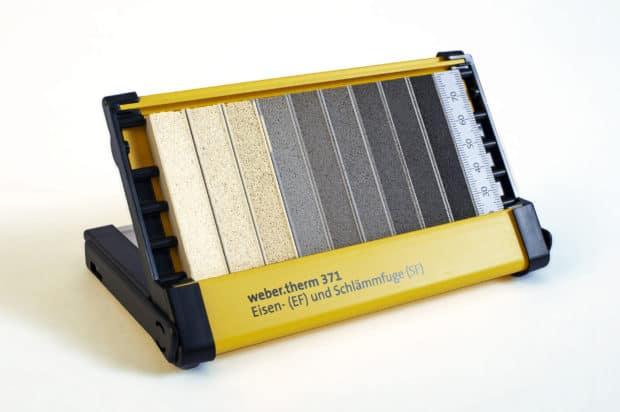 Muestrario para juntas con doble función: estuche compacto y display de sobremesa para la presentación de muestras de juntas