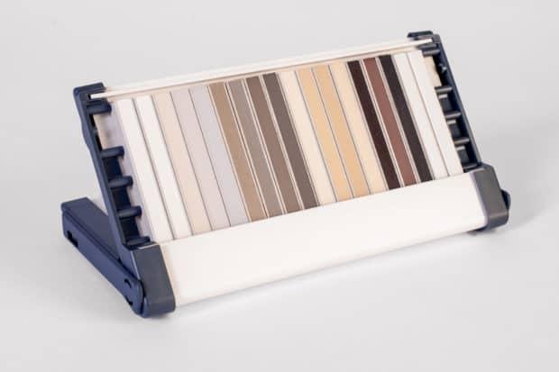 Boîte-coffret double fonction : boîte de transport et présentation PLV pour joints de carrelage