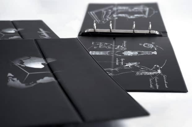 Classeur chevalet imprimé en sérigraphie intérieur et extérieur