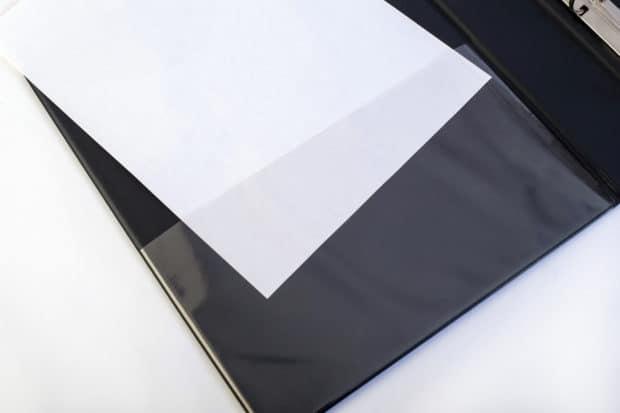 Classeur pvc pour format A4 personnalisé avec poche pour documents en pvc transparent