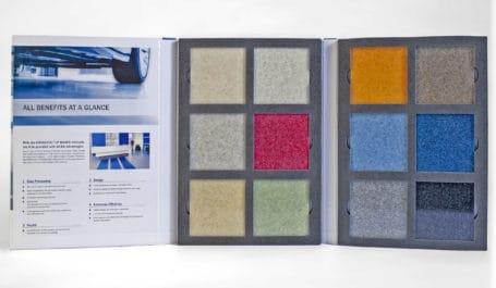 Coffret nuancier mousse pour échantillons sol lourds