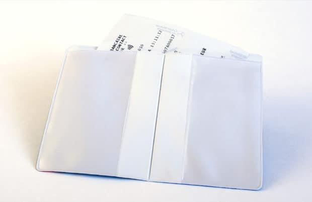 Étui en PVC soudé personnalisé avec une poche facturette