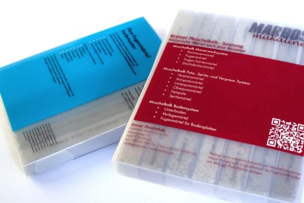 Bedruckung der PP-Fugenmusterschachtel im Siebdruck für Ihre Marken- und Produktkommunikation