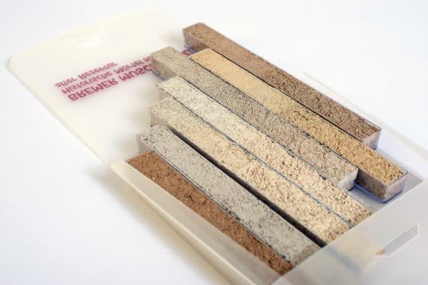 Étui nuancier PP compact pour joints de parement modulables et amovible