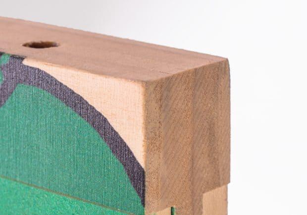 Impression numérique haute définition sur bois épais