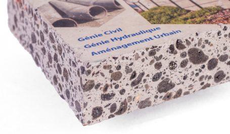 Direkter Digitaldruck auf Beton-Handmuster bis 5 cm Dicke