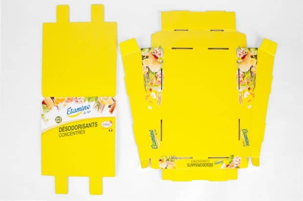 Verkaufsdisplay aus Wellpappe direkt digital bedruckt und flach geliefert