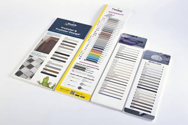 Nuanciers-PLV en Forex imprimé sur mesure pour présentation au point de vente
