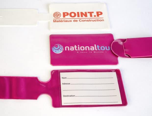 Porte-étiquette à bagage en PVC personnalisé