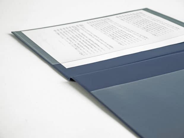 Protège-partitions sur-mesure avec 2 poches en PVC cristal