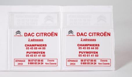 Porte-vignette d'assurance en PVC personnalisé