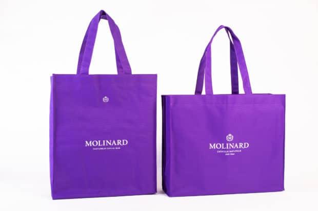 Couleur spécifique à la marque imprimée au Pantone® pour un sac shopping personnalisé