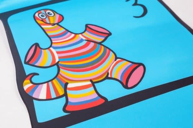 Pegatina de suelo de gran formato con impresión digital a cinco colores