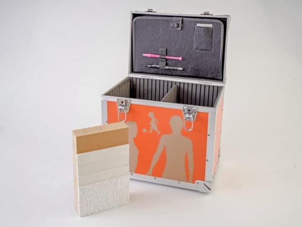 Valise aluminum : conception sur-mesure et réalisation en prestation complète, maquette ITE incluse