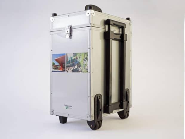 Valise haut de gamme avec trolley télescopique et butées