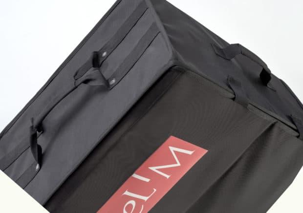 Valise commerciale avec poignées polyester résistantes et confortables
