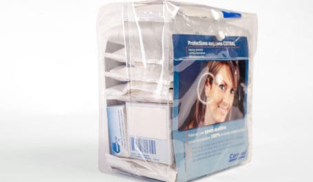 Packaging en EVA transparent pour distribution de produits