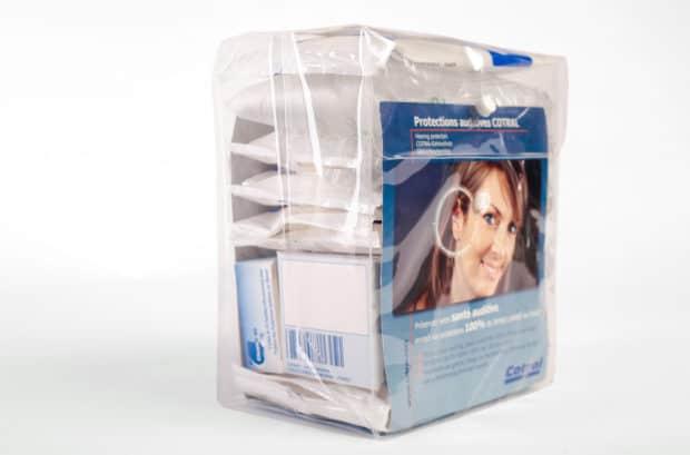 Packaging en EVA transparent pour distribution de produits