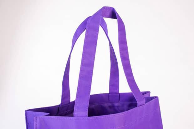 Sac shopping avec anses porté épaule et doublure polyester