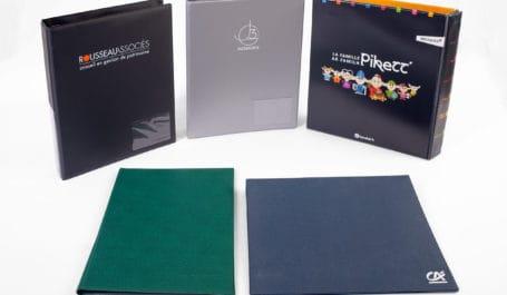 Archivadores, carpetas de anillas o cajetines para carpeta de PVC personalizados y hechos a medida