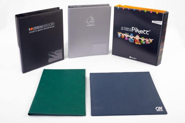 Individuelle Ordner, Ringbücher oder Ordnerboxen aus PVC massgeschneidert