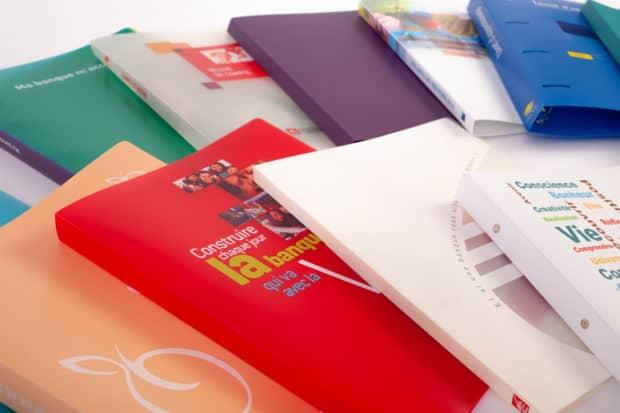 Archivadores, carpetas de anillas o cajetines para carpeta de polipropileno personalizados y hechos a medida