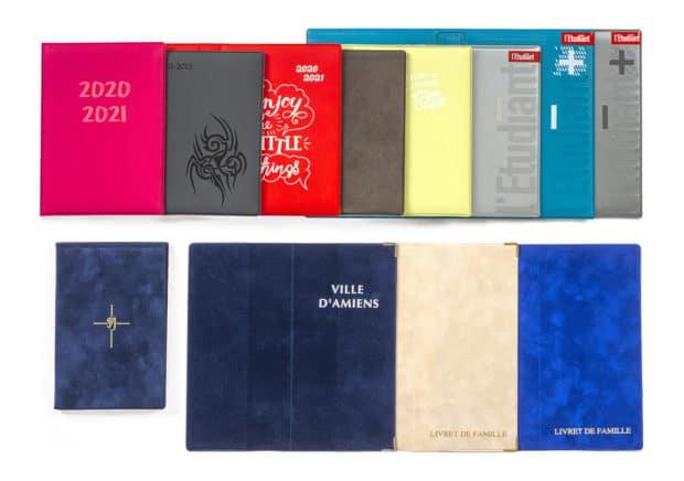 Tapas protectoras hechas a medida para agendas y diarios de PVC o PP