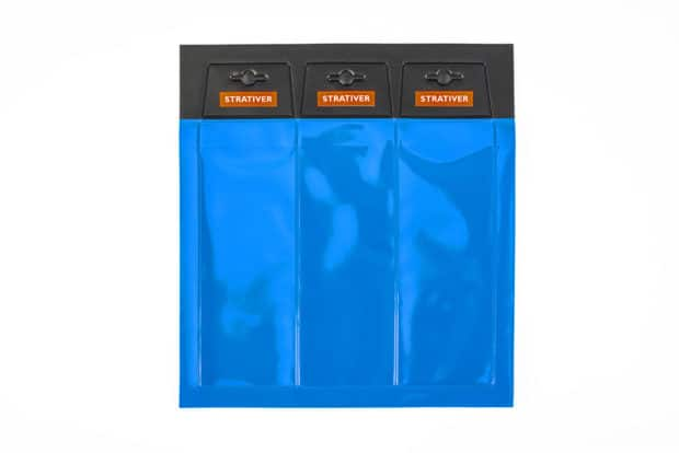 PVC wallet with Euro perforation, and with reinforced and printed opaque and transparent PVC hanging loop