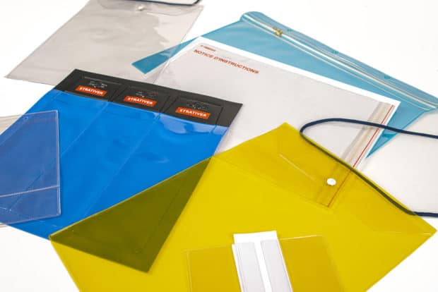 Custom-made PVC price tags, poster pockets, wallets, suspended pockets