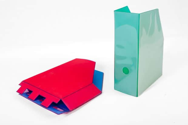 Foldable PVC slipcase - in one or several colours
