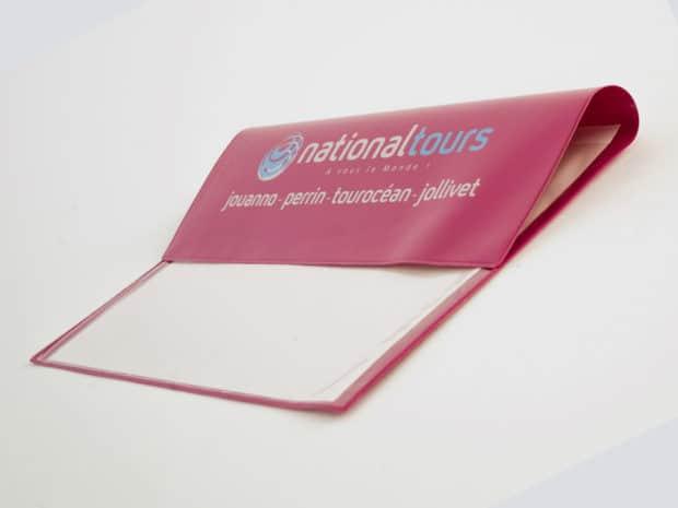 Pochette de voyage PVC avec soudure pliage rainant pour le rabat