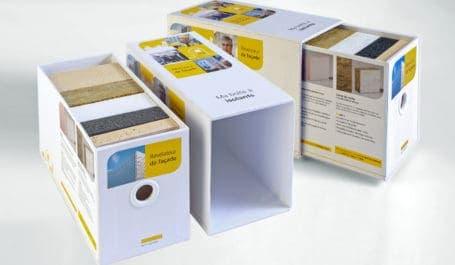 Caja corredera de gran calidad con funda de cartón forrado