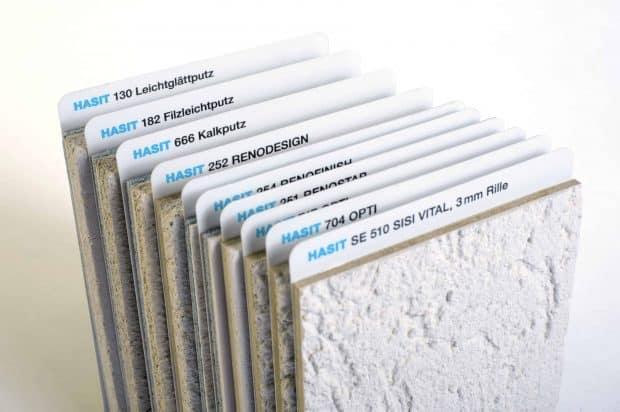 Las muestras de morteros son pegadas sobre separadores de PP, un catálogo de muestras organizado en forma de fichero