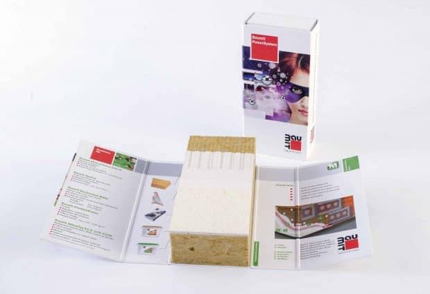 Maquette ITE présentée dans une couverture carton avec aimant haut de gamme