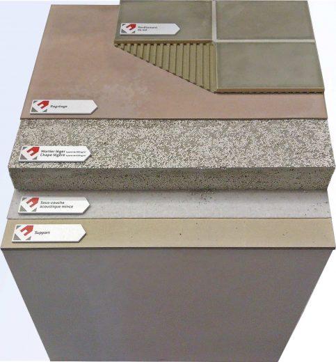 Fabrication complète d'une maquette de pose de sol sur plancher béton ou bois