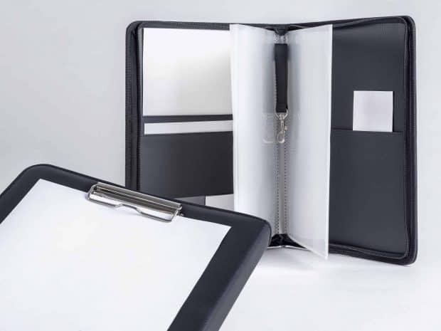 Pochette fonctionnelle avec mousqueton porte-clé, pochettes A4 en PP avec grande ouverture