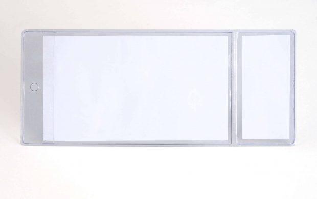 Pochette de balisage avec 2 emplacements pour les références produits en magasin