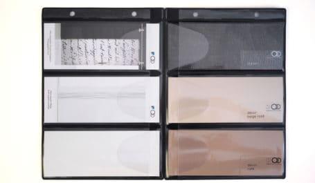 Pochette pour classeur à compartiments refermables par rabat