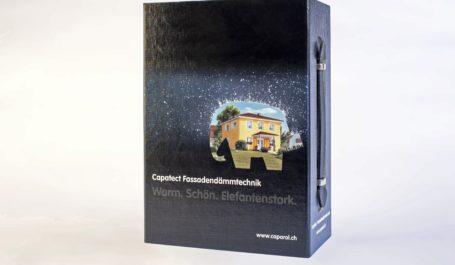 Valise carton et polypropylène pour maquettes ITE et sa documentation technique