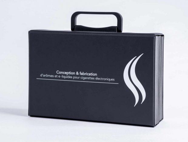 Valise de présentation sur-mesure en PVC avec poignée de transport